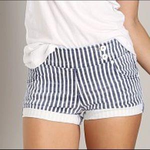 Free People Mariner Stripe Shorts Sz 27